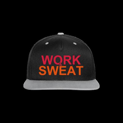 Work &  Sweat - Kontrast Snapback Cap