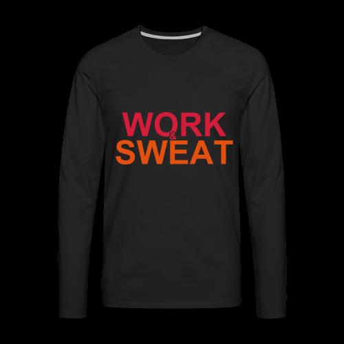 Work &  Sweat - Männer Premium Langarmshirt