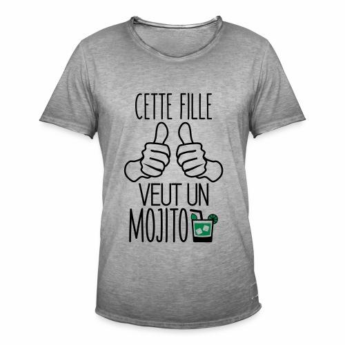 Cette fille veut un mojito - T-shirt vintage Homme