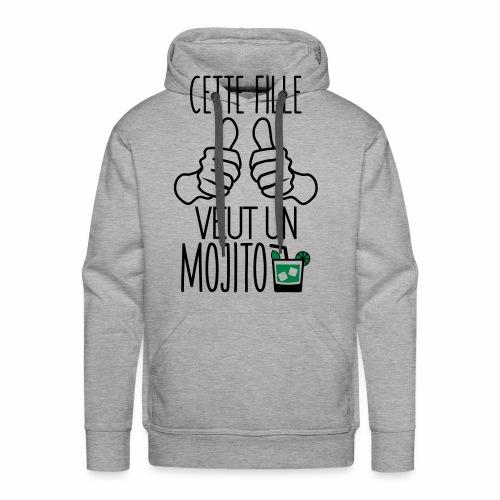Cette fille veut un mojito - Sweat-shirt à capuche Premium pour hommes