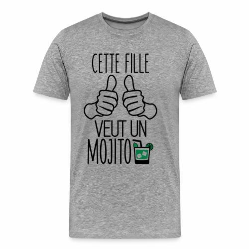 Cette fille veut un mojito - T-shirt Premium Homme