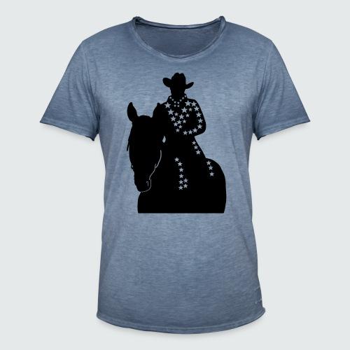 Western-Reiterin-Sterne - Männer Vintage T-Shirt