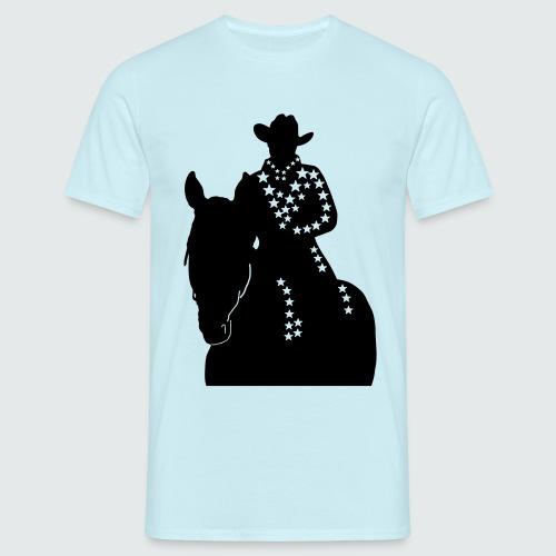 Western-Reiterin-Sterne - Männer T-Shirt