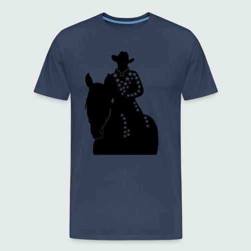 Western-Reiterin-Sterne - Männer Premium T-Shirt