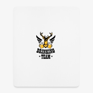 Hirsch Flügel Mass Bier Drinking Team iPhone Case - Mousepad (Hochformat)