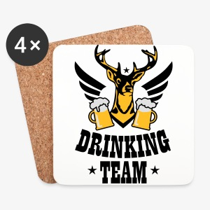 Hirsch Flügel Mass Bier Drinking Team iPhone Case - Untersetzer (4er-Set)