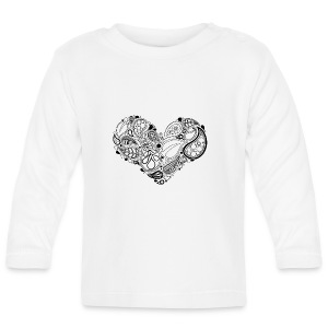 Leaf Heart Mandala - Baby Long Sleeve T-Shirt