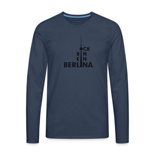 Ick bin ein Berlina - Männer Premium Langarmshirt