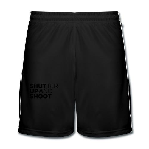 SHUTTER UP AND SHOOT - Männer Fußball-Shorts