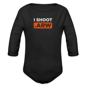 I SHOOT ARW - Baby Bio-Langarm-Body