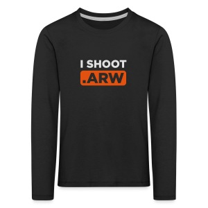 I SHOOT ARW - Kinder Premium Langarmshirt