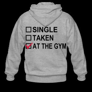 Single? Taken? At The Gym! - Männer Premium Kapuzenjacke
