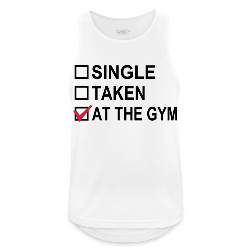 Single? Taken? At The Gym! - Männer Tank Top atmungsaktiv
