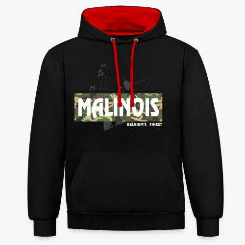 Malinois Camouflage Hoodie - Kontrast-Hoodie