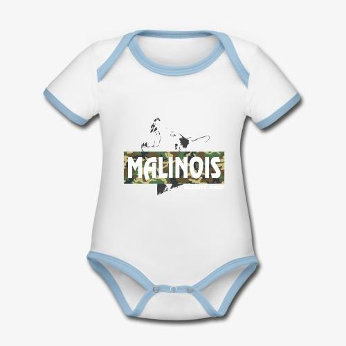 Malinois Camouflage Hoodie - Baby Bio-Kurzarm-Kontrastbody