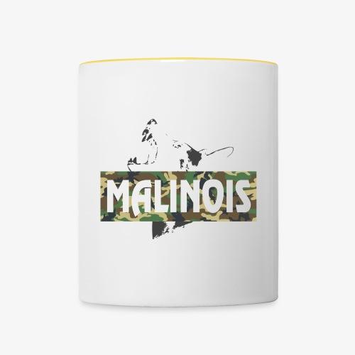 Malinois Camouflage Hoodie - Tasse zweifarbig
