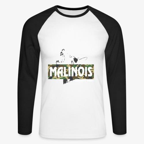 Malinois Camouflage Hoodie - Männer Baseballshirt langarm