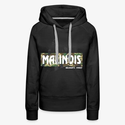 Malinois Camouflage Hoodie - Frauen Premium Hoodie