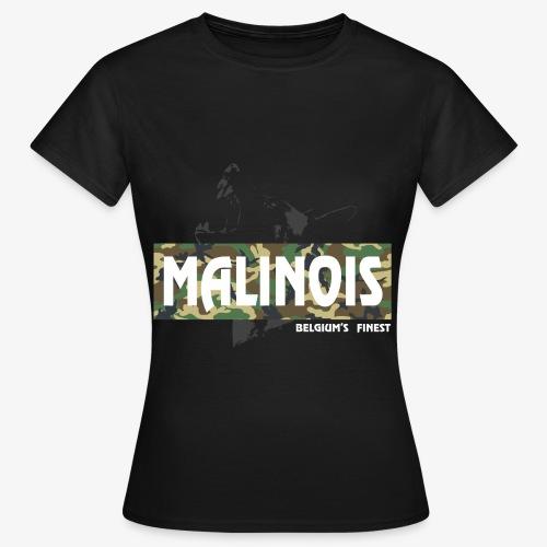 Malinois Camouflage Hoodie - Frauen T-Shirt
