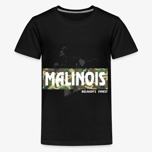 Malinois Camouflage Hoodie - Teenager Premium T-Shirt