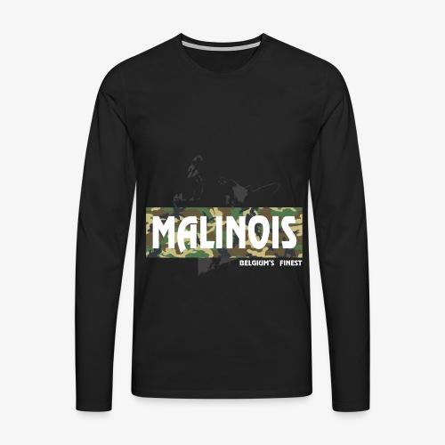 Malinois Camouflage Hoodie - Männer Premium Langarmshirt