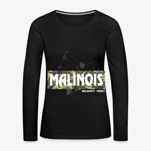 Malinois Camouflage Hoodie - Frauen Premium Langarmshirt