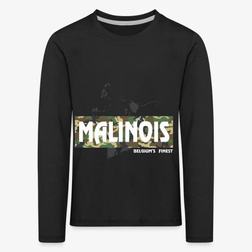 Malinois Camouflage Hoodie - Kinder Premium Langarmshirt