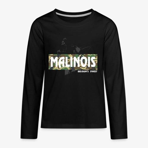 Malinois Camouflage Hoodie - Teenager Premium Langarmshirt