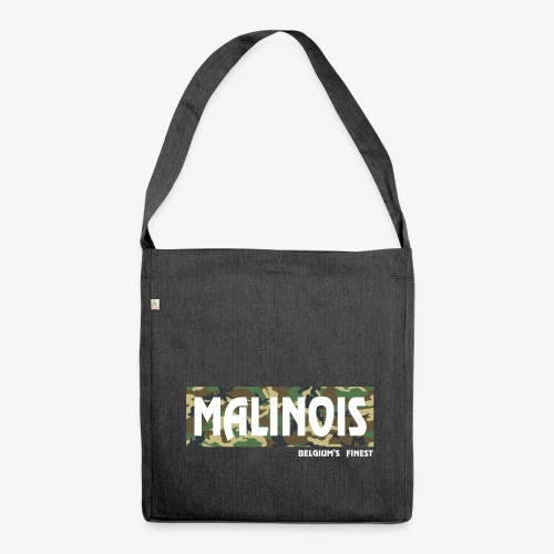 Malinois Camouflage Hoodie - Schultertasche aus Recycling-Material
