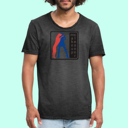 Makeupcleaner schwarz orange - Männer Vintage T-Shirt