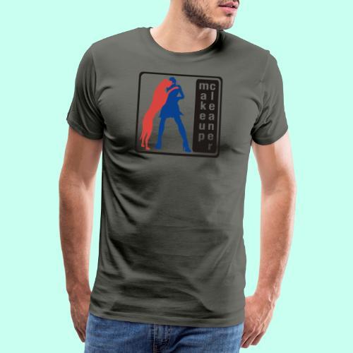 Makeupcleaner schwarz orange - Männer Premium T-Shirt