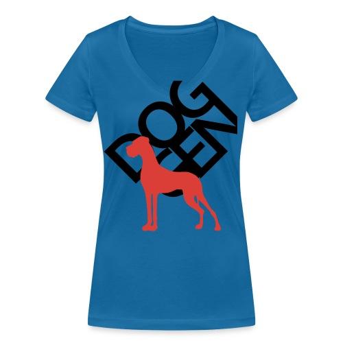 DOG GEN und Dogge - Frauen Bio-T-Shirt mit V-Ausschnitt von Stanley & Stella