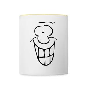 MIMIK - fröhlich - Tasse zweifarbig
