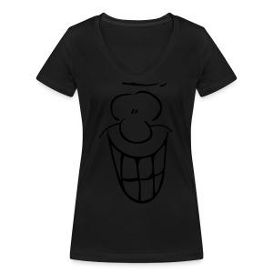 MIMIK - fröhlich - Frauen Bio-T-Shirt mit V-Ausschnitt von Stanley & Stella