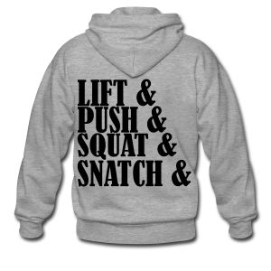 Lift, Push, Squat, Snatch - Männer Premium Kapuzenjacke