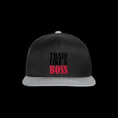 Train Like a Boss Frontprint - Snapback Cap
