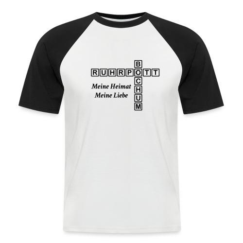 Ruhrpott Bochum Meine Heimat, meine Liebe - Slim T-Shirt - Männer Baseball-T-Shirt