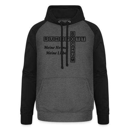 Ruhrpott Bochum Meine Heimat, meine Liebe - Slim T-Shirt - Unisex Baseball Hoodie