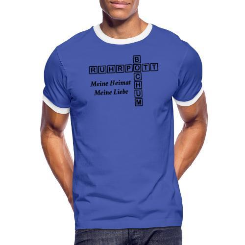 Ruhrpott Bochum Meine Heimat, meine Liebe - Slim T-Shirt - Männer Kontrast-T-Shirt