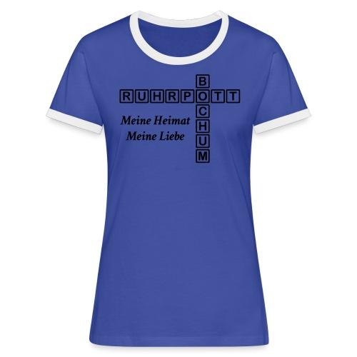 Ruhrpott Bochum Meine Heimat, meine Liebe - Slim T-Shirt - Frauen Kontrast-T-Shirt