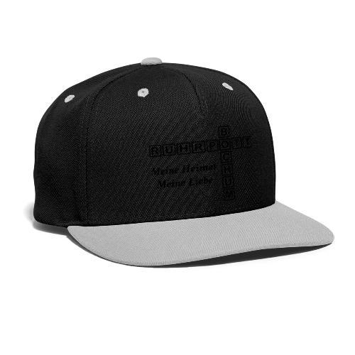 Ruhrpott Bochum Meine Heimat, meine Liebe - Slim T-Shirt - Kontrast Snapback Cap