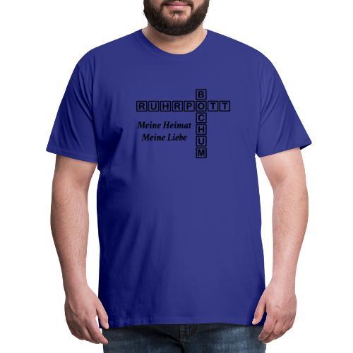 Ruhrpott Bochum Meine Heimat, meine Liebe - Slim T-Shirt - Männer Premium T-Shirt