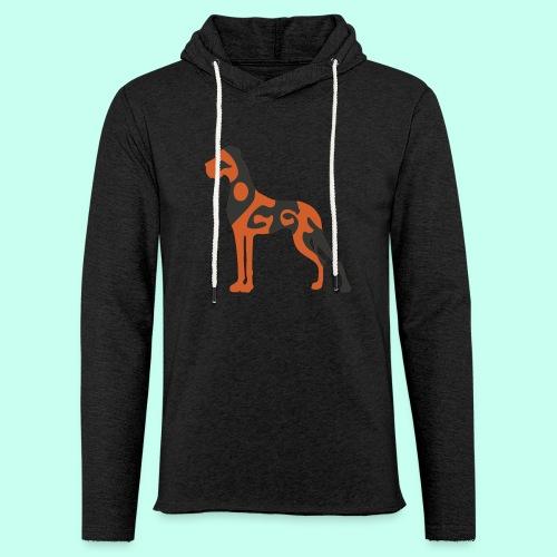 Leichtes Kapuzensweatshirt Unisex - Doggenstatur,Doggensilhouette,Doggenshirt,Doggenhaus,Doggenfigur,Dogge