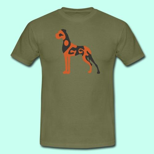 Männer T-Shirt - Doggenstatur,Doggensilhouette,Doggenshirt,Doggenhaus,Doggenfigur,Dogge
