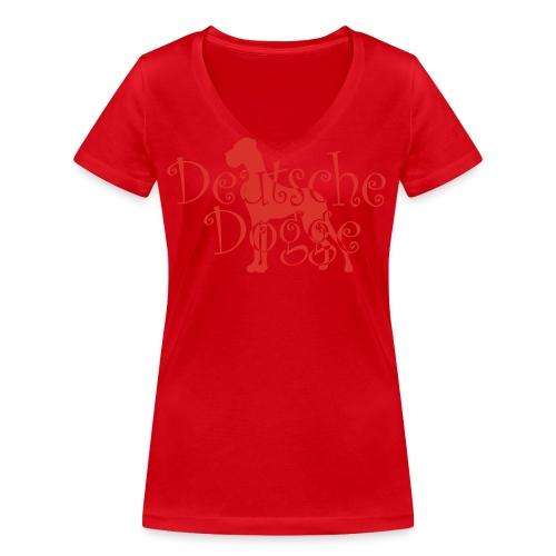Frauen Bio-T-Shirt mit V-Ausschnitt von Stanley & Stella - Doggenstatur,Doggensilhouette,Doggenshirt,Doggenhaus,Doggenfigur,Dogge
