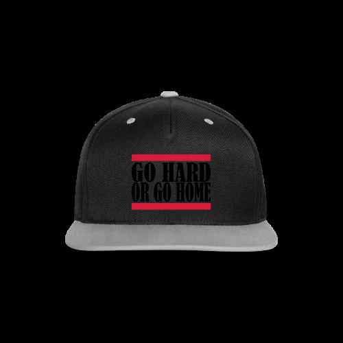 Go Hard Or Go Home - Kontrast Snapback Cap