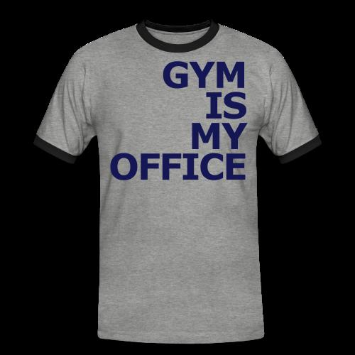 Gym is my Office - Männer Kontrast-T-Shirt