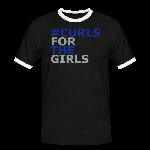 Curls for The Girls - Männer Kontrast-T-Shirt