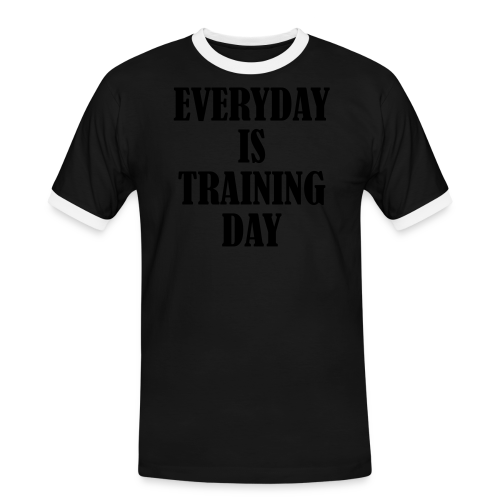 Everyday is Training Day - Männer Kontrast-T-Shirt