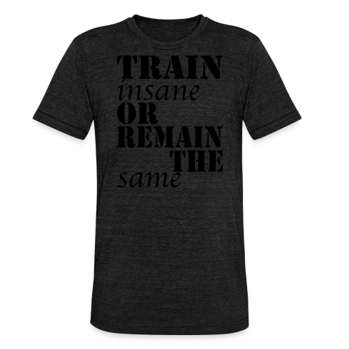 Train Insane - Unisex Tri-Blend T-Shirt von Bella + Canvas